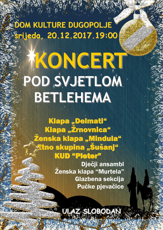 Koncert Pod svjetlom Betlehema