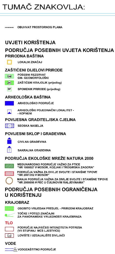 Općina Dugopolje - Uvjeti korištenja, uređenja i zaštite površina