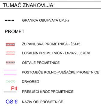 Naselja Dugopolje - Prometna mreža