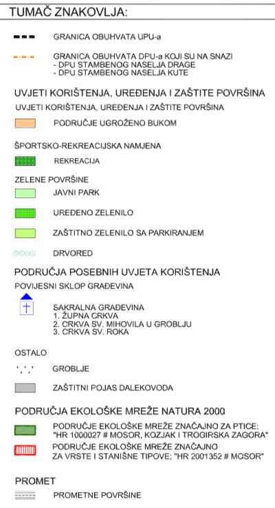 Naselja Dugopolje - Uvjeti korištenja i zaštite prostora