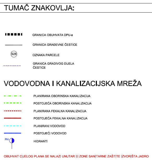DPU Podi - 3.1. Plan mreže vodovoda i kanalizacije
