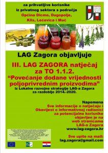 LAG Zagora objavljuje treći po redu LAG natječaj za TO 1.1.2 Povećanje dodane vrijednosti poljoprivrednim proizvodima  uvodna slika