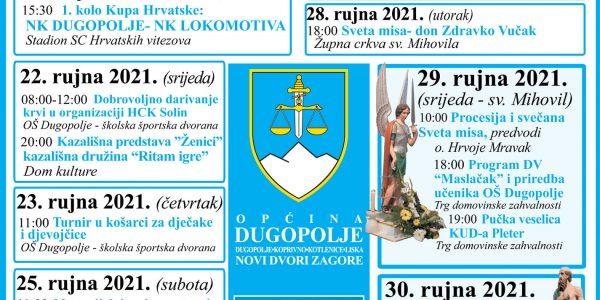 Dani Općine Dugopolje - Program proslave Plakat